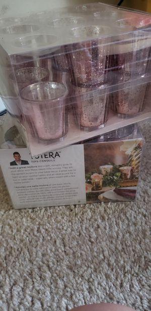Rose gold candle tea light holders for Sale in Denver, CO