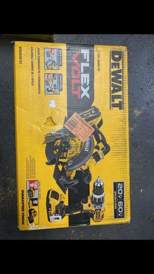 Dewalt (NEW) Flex Volt Circular Saw and Hammer Drill $450 Set for Sale in La Habra Heights, CA