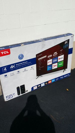 Price firm brand new 4k 55-inch TCL Roku Smart TV for Sale in Winston-Salem, NC