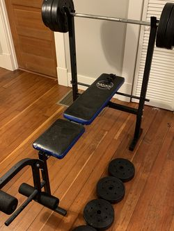 110lbs + Barbell + Bench Press for Sale in Portland,  OR