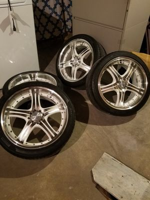 Universal rims with tire for Sale in Reading, PA
