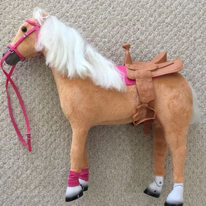 New Standing Toy Horse - 19 Inches Tall x 21 Inches Long - with saddle and bridle for Sale in Fairfax, VA