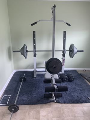 FG 600 Olympic Power Bench with Squat Rack for Sale in Charlotte, NC
