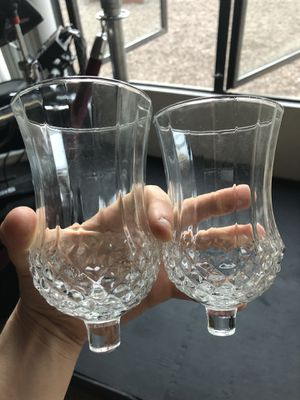 Antique cocktail glass stemless for Sale in Coronado, CA