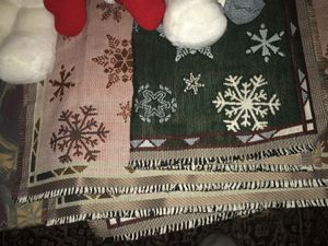 Four NEW CLOTH Christmas placemats for tables with Snowflakes for Sale in Redwood City, CA