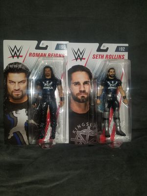 Wwe figures seth rollins roman reigns chase!!! for Sale in Turlock, CA