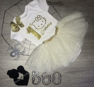 1st Birthday Onesie with Tutu Hello Kitty inspired 18 months for Sale in South Gate, CA