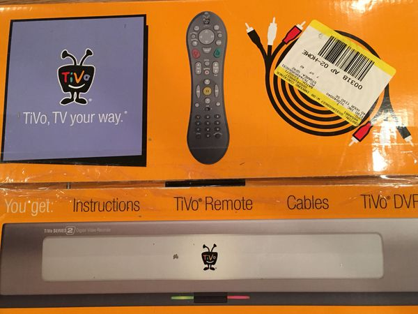 Tivo Series 2 40 hour recording box with remotes. 2 boxes never used. 1 unopened still in sealed box. $75for both (Each one cost $185 new for 1 box)