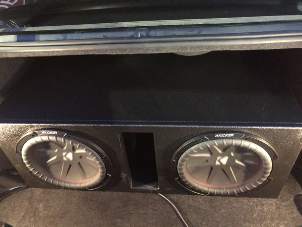 """2 12"""" Comp R kickers with pro box"""