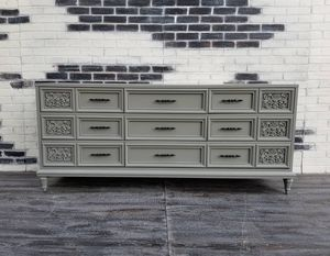 MC/ Credenza. Dresser 9 drawers. Stone gray for Sale in Westchester, CA