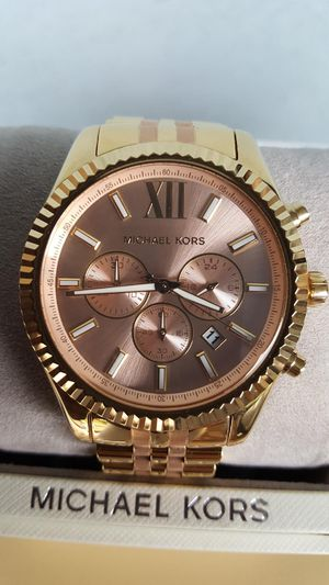 New Authentic Michael Kors Men's TwoTone Boldface Watch for Sale in Montebello, CA