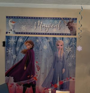 Frozen 2 birthday decorations for Sale in Gainesville, GA