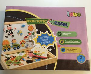 Lewo Wooden Educational Toys Magnetic Art Easel Animals Wooden Puzzles Games 3+ for Sale in Coto de Caza, CA
