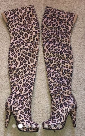 Charlotte Russe Leopard Thigh High boot for Sale in Tempe, AZ