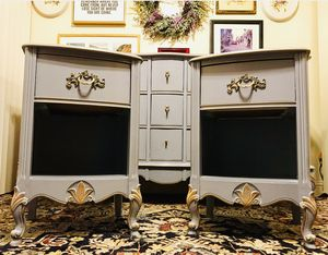Gorgeous Vintage High-End Furniture Guild of California French Country Bedroom Set with Beautiful Details and Hardware!! BEAUTIES!! for Sale in Mountain View, CA