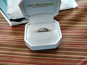 White gold ring/ wedding band. for Sale in Idaho Falls, ID