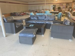 New outdoor furniture- 5 pieces ( blue ) for Sale in Houston, TX