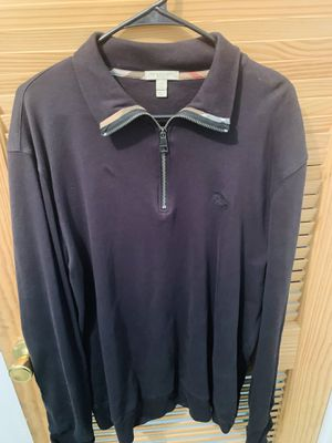 Authentic Burberry Pullover Zip Sweater for Sale in Fresno, CA