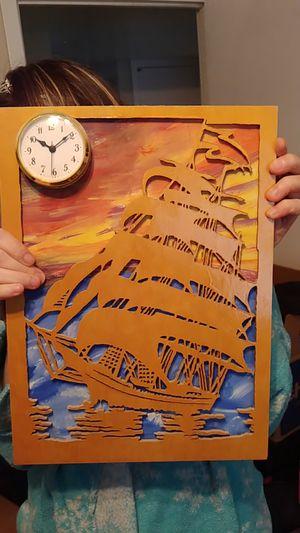 Ship wooden clock for Sale in Deer Park, TX
