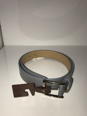 W. Kleinberg For Neiman Marcus Genuine Grey Leather Belt Size 36 MSRP $165 | Ferragamo | Gucci for Sale in Austin, TX
