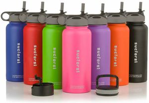 Water Bottle +2 Extra Accessories - Vacuum Insulated Stainless Steel Wide Mouth Travel Mug - Powder Coated Double for Sale in New York, NY