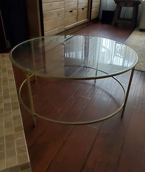 Beautiful Round Metal and Glass Coffee Table for Sale in Winchester, CA