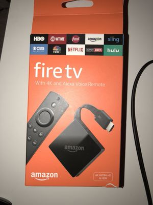 Fire Tv 4K and Alexa voice remote for Sale in Los Alamitos, CA