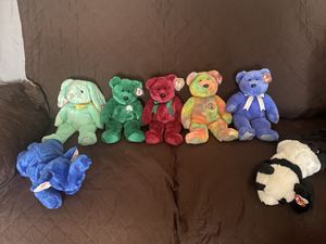 Vintage beanie babies some in mint packaging or excellent condition like new out of box package 1990's Highly collectibles!SERIOUS OFFERS PLEASE (NOR for Sale in Los Angeles, CA