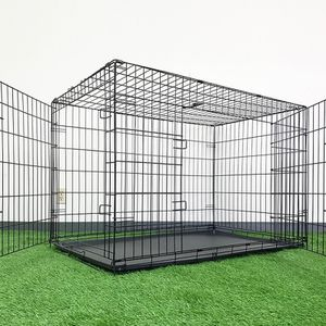 """Brand New $65 Folding 48"""" Dog Cage 2-Door Pet Crate Kennel w/ Tray 48""""x29""""x32"""" for Sale in Pico Rivera, CA"""