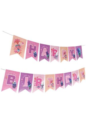 Trolls birthday banner for Sale in Los Angeles, CA