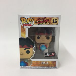 Funko pop 8 bit street fighter game stop exclusive ryu vinyl figure for Sale in Los Angeles, CA