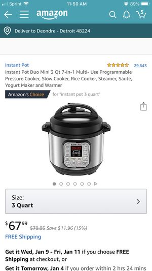 Instant pot for Sale in Detroit, MI