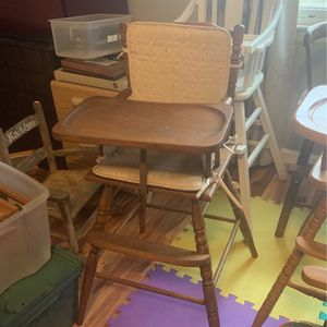 Vintage Wooden High Chair for Sale in Spartanburg, SC