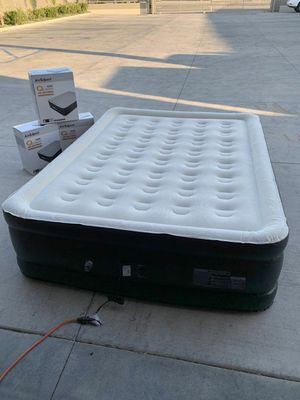 Brand new in box AirExpect Top 10 air mattress queen size bed with built-in pump 660lbs capacity leak proof inflatable 5 minutes inflate deflate for Sale in Pico Rivera, CA