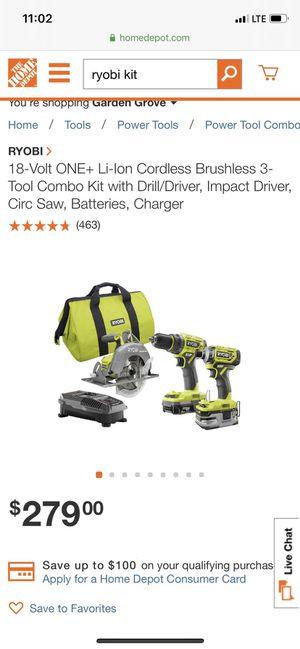 Ryobi power tool kit brand new with receipt for Sale in Santa Ana, CA