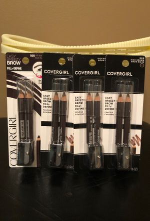 Covergirl brow pencils with sharpener $2 each rich brown for Sale in Hamburg, NY