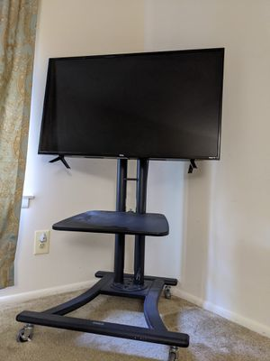 "Mobile TV Stand Cart Wheels Shelf Floor Stand Mount for 32""-55"" for Sale in Baltimore, MD"