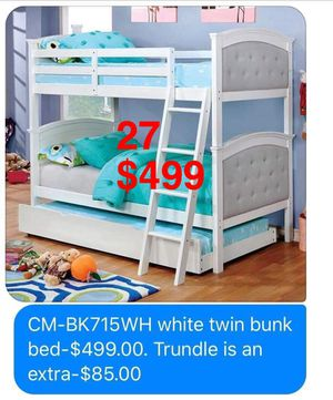 FOA Bunkbeds: Bunkbeds. Mattress not included. Trundle not included. Assembly not included. Free delivery. for Sale in Long Beach, CA