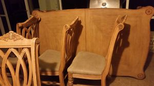 WOOD DINING ROOM TABLE W CHAIRS for Sale in Sebring, FL