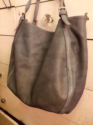 Moda lux large blue leather handbag for Sale in Alexandria, VA