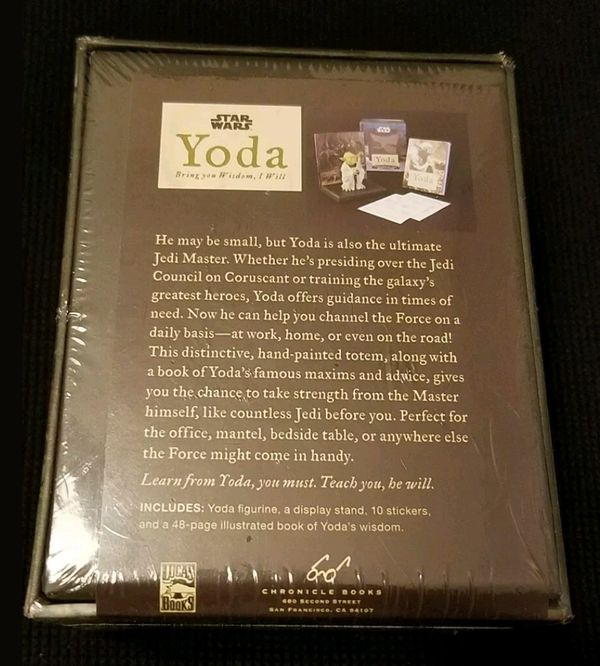 2010 STAR WARS Yoda Bring You Wisdom, I Will • WITH A BOOK OF YODA'S WISDOM