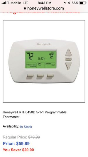 Honeywell 5-1-1 programmable thermostat. for Sale in Salt Lake City, UT