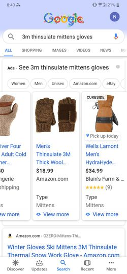 3m Thick Wool Gloves for Sale in Peoria Heights,  IL