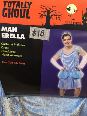 NEW Man-Erella (Cinderella) Halloween Costume size ADULT ONE SIZE for Sale in Phoenix, AZ