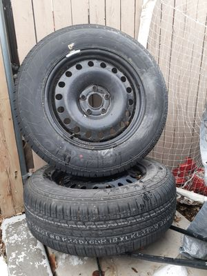 Jeeps . Tires and wheels like new for Sale in Denver, CO