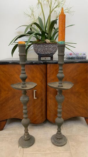 Antique candle holder candelabras pair for Sale in St. Cloud, FL