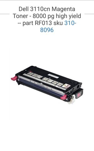 MAGENTA color- Dell 3110cn Toner Cartridges for Sale in Lake Forest, CA
