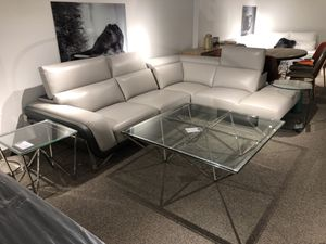 Italian leather sectional grey for Sale in North Bethesda, MD