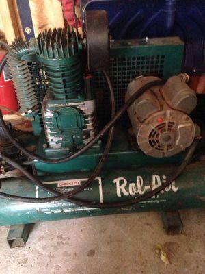 Rol-air twin cylinder air compressor for Sale in Wichita, KS
