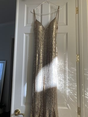 'Alamour' Gold Mermaid Prom Dress for Sale in Dublin, CA